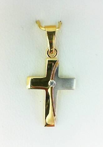 Kreuz Anhänger Bicolor