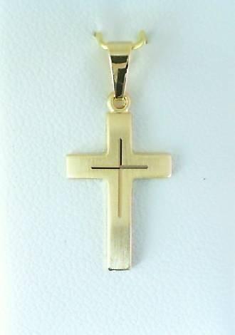 Kreuz Anhänger mit Schliff