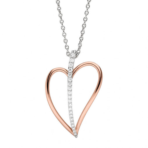 Viventy Damenkette Bicolor mit Herzanhänger