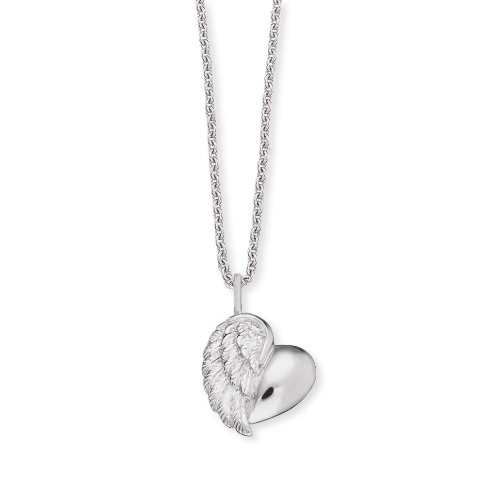 Herzengel Kinderkette mit Herzflügelanhänger