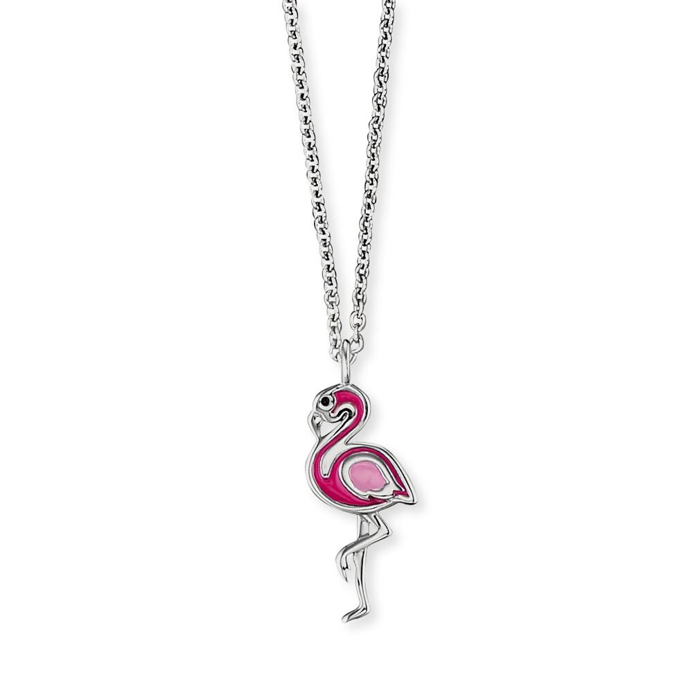 Herzengel Kinderkette mit Flamingoanhänger