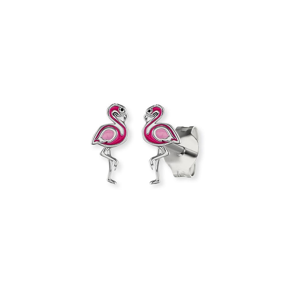 Herzengel Flamingo Ohrringe