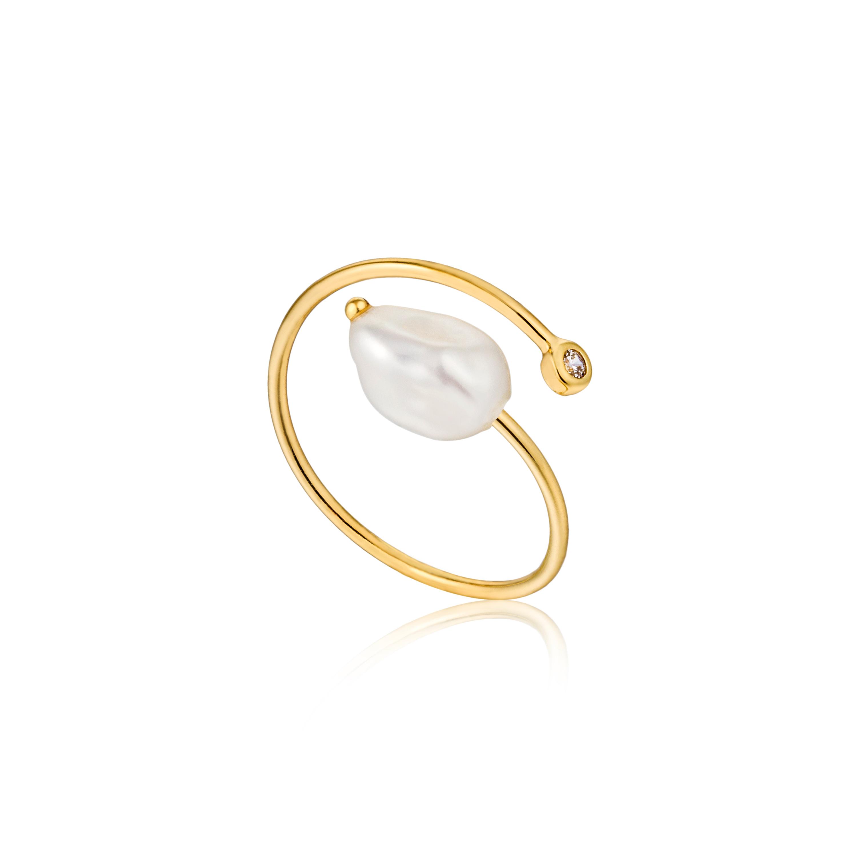 Ania Haie Twist Pearl Ring